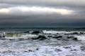 Nantasket Beach storm clouds and surf